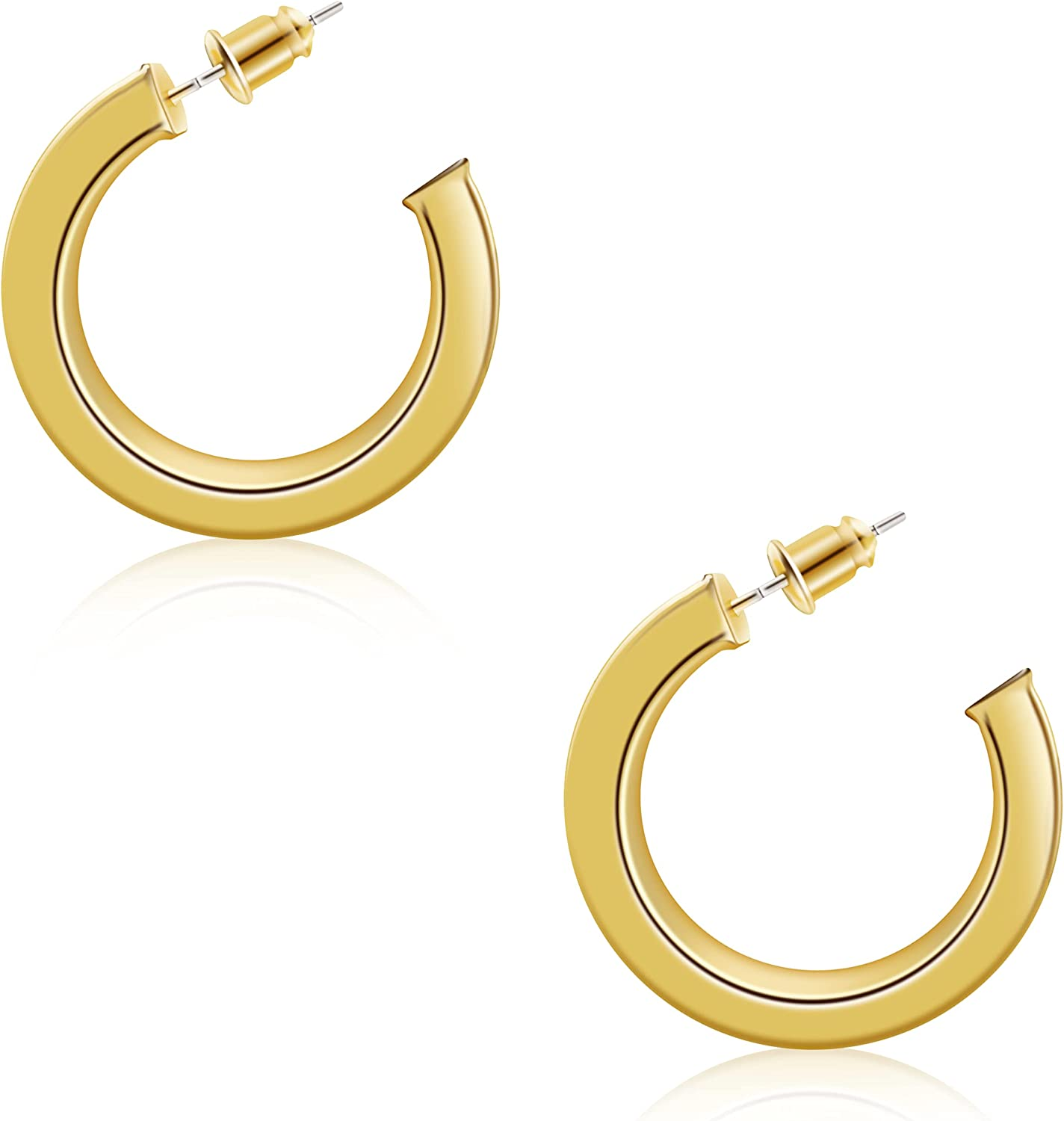 Urboon Thick Chunky Gold Silver Hoop 4 Earrings Super beauty product restock quality top excellence for Women 30mm