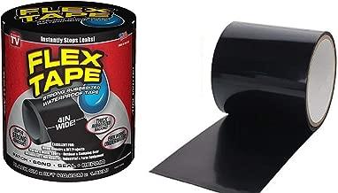 Elegant Enterprise™ Rubberized Waterproof Flex Instantly Stops Leaks Sealer Tape (4 Inch X 5 Feet, Black) (Flex Tape)