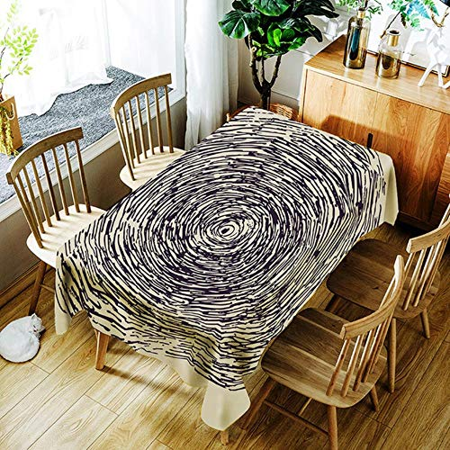 Viner Marbled Street Nappe Nappe Cire d'eau Rectangulaire Papier Peint Table Cover Protector Party Banquet Table Cover Dining, BO803,150X210CM