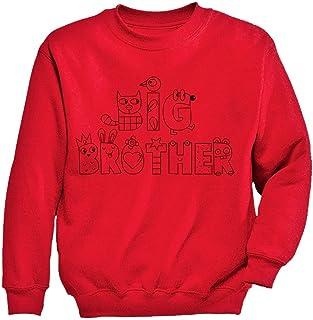 ビッグブラザーへプレゼント  キュートビッグブラザープレゼント クレヨンキュートシャツ かわいいブラザープレゼントシャツ キッズスウェットシャツ