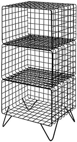 FKYGDQ Panier de RangeHommest en Fer Multicouche Rack de RangeHommest Simple Multifonctions Or Noir Deux Couleurs Taille Deux Tailles Casier (Couleur   Noir, Taille   39.5×32×81.5cm)