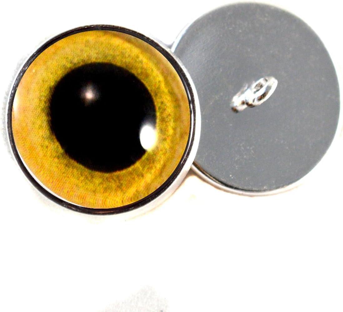 Orange Owl Doll Sculpture Taxidermy Eyeballs Handmade Glass Cabochons 8mm 10mm 12mm 13mm 14mm 16mm 18mm 20mm 25mm 30mm Owl Glass Eyes