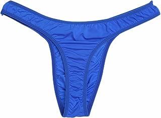 iEFiEL Men's Silky Bikini Thongs G String Pouch Underwear Breathable Swimwear
