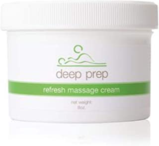 Rolyan Deep Prep Refresh Massage Cream for Relaxing Full Body Massage & Sore Muscles & Trigger Point Pain Relief, 8 oz