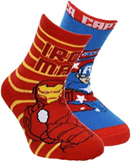 Suncity Pack 2 calcetines Los Vengadores Avengers Ironman y Capitán América T.27/30