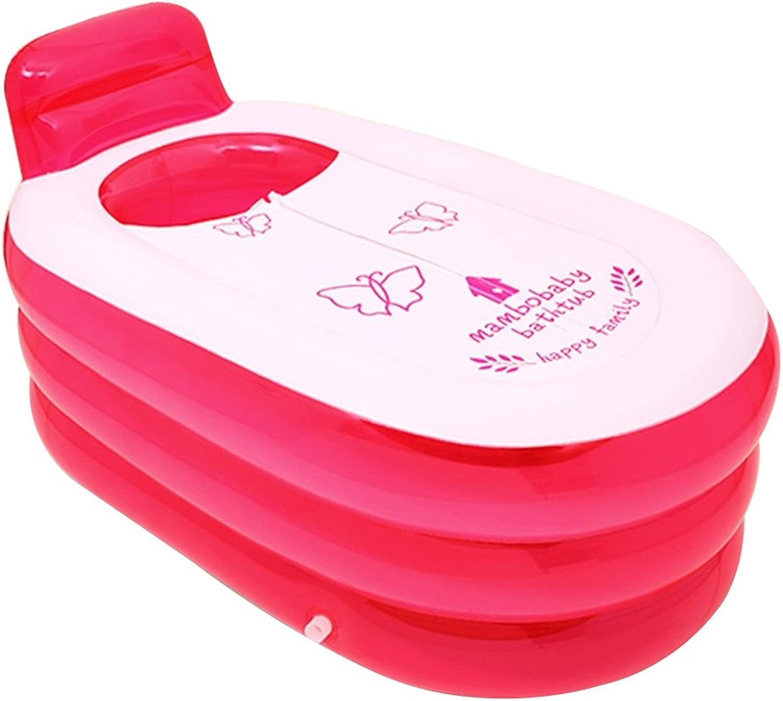 Bathtub PHTW HTZ Aufblasbare Badewanne PVC Kunststoff Erwachsene Halten Temperatur Badewanne Kinder Badewanne Badewanne (130x70x70 cm) (Farbe   rot)