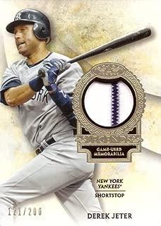 2017 Topps Tier One Relics Legends #T1RL-DJ Derek Jeter Game Worn Yankees Jersey Baseball Card w/Pinstripe - Only 200 made!