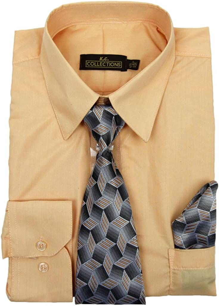 KC Collections Mens Long Sleeve Dress Shirt
