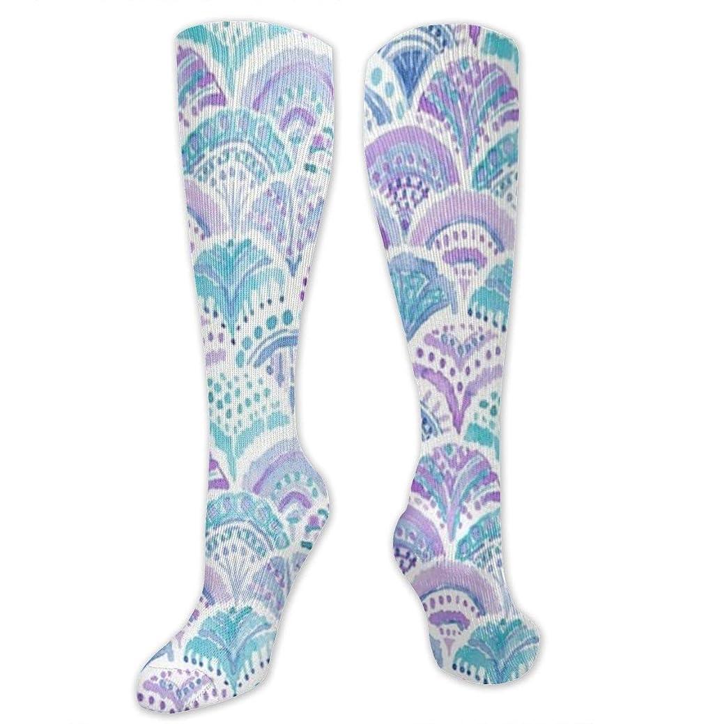 取り消す予測するコイル靴下,ストッキング,野生のジョーカー,実際,秋の本質,冬必須,サマーウェア&RBXAA Mermaid Daydreams Socks Women's Winter Cotton Long Tube Socks Knee High Graduated Compression Socks
