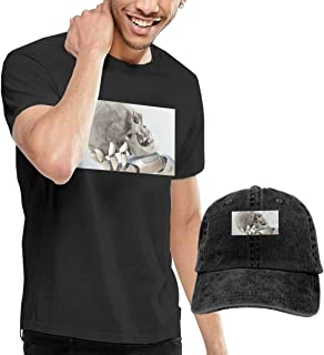 Dream Theater Men's Funny Short Sleeved T-Shirt and Cowboy Hat Black