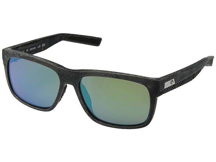 Costa  Baffin (Net Gray/Black Rubber Green Mirror 580G) Athletic Performance Sport Sunglasses