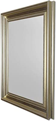 Art Street Wall Perl Decorative Wall Mirror Antique Silver Inner Size 12 x 18 inch, Outer Size 16 x 22 inch
