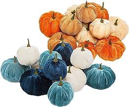 NC 24 Unidades de Veludo de Pelúcia Preenchedor de Abóboras, Dia de Graças, Halloween, Outono, Artesanato