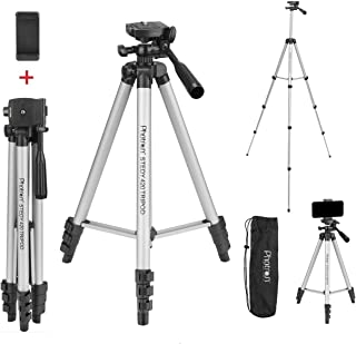 Photron Stedy 420 Tripod 50 Inch with Mobile Holder for Smart Phone, Camera, Mobile Phone | Extends to 1240mm (4 Feet) | F...