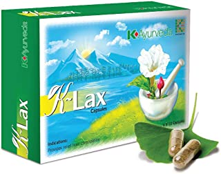 Pack of 2 x 60 Capsules - K-Link Ayurveda K-Lax Capsules - Relieves Constipation
