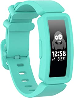 TERSELY Sport Band Strap for Fitbit ACE 2, Soft TPU Silicone Metal Buckle Bands Fitness Sports Bracelet Strap for Fitbit A...