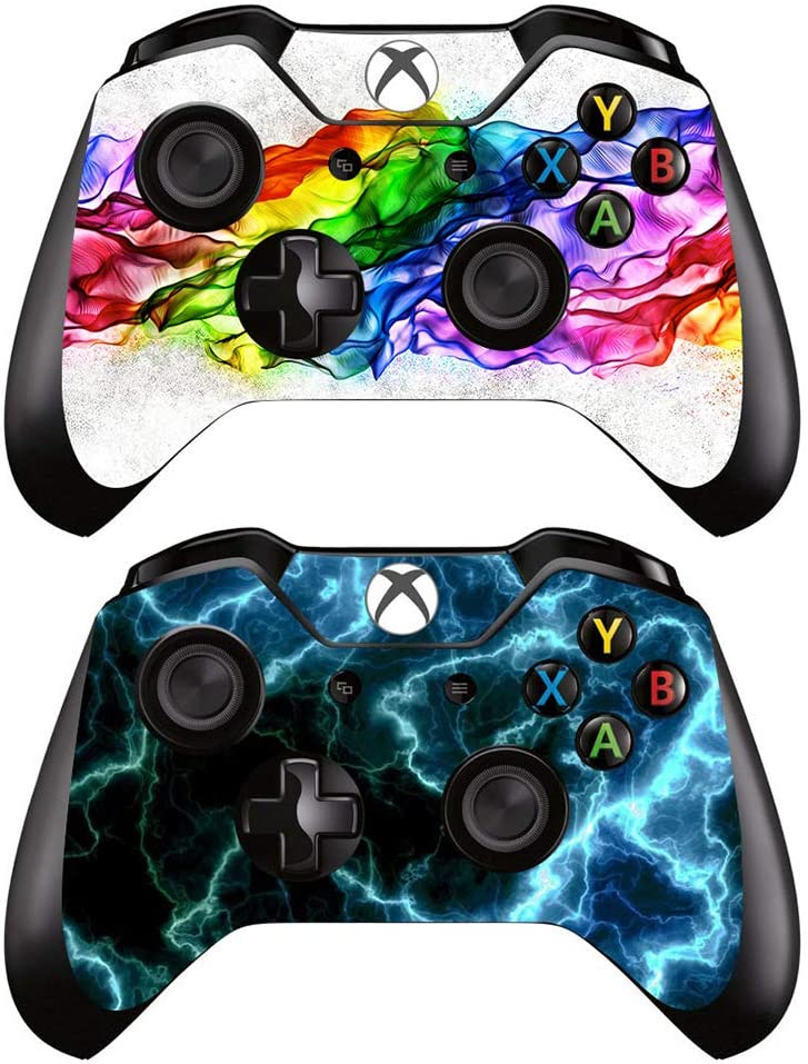 eSeeking [2PCS] Whole Body Vinyl Sticker Decal Cover Skin for Xbox One Controller - 2pcs. Combination