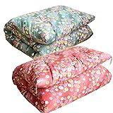 スーピマ綿使用 手作り 最高級綿ふとん 和敷布団 シングルサイズ* (グリーン6319S)