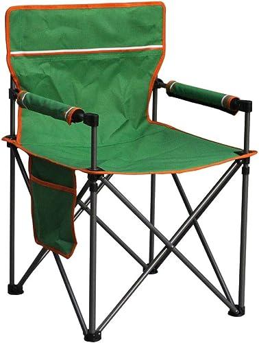Chaise de camping Accoudoir dossier camping en plein air barbecue chaise pliante chaise de directeur chaise de plage chaise de pêche loisirs chaise de jardin portable à la maison (vert) Chaise pliante