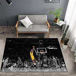 Tritow USA NBA Basketball Tapis NBA Lakers Kobe Shot Salon Tapis antidérapant Facile à nettoyer Tapis de zone d'impression...