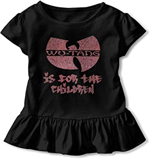 BenF Wu Tang is for The Children Little Girls Short Sleeve T-Shirt with Flounces for 2-6 Years Old