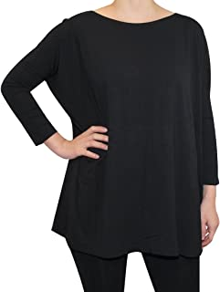 Piko Women's Famous 3/4 Sleeve Bamboo Top Loose Fit