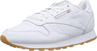 Reebok Classic Leather Women's Fashion Sneaker, Intense White/Gum