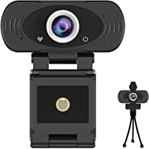 1080p Full HD USB Webcam with Built-in Microphone with Privacy Cover and Tripod,30fps Plug and Play Widescreen Live Stream...