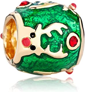 DemiJewelry Xmas Christmas Tree Santa Claus Reindeer Charms for Christmas Fit Charm Bracelets