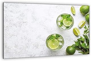 decorwelt Plaque de protection universelle pour plaque de cuisson 80 x 52 cm - En 1 pièce - Vert citron - Protection anti-...