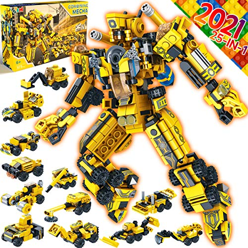 Innorock Robot STEM Building Kids Toys - Educational Robots Trucks Projects Activities Blocks Cool Toy Game for 5 6 7 8 9 10 11 12 Year Old Boys Girls Gift Set STEAM Learning Education Puzzles Blocks