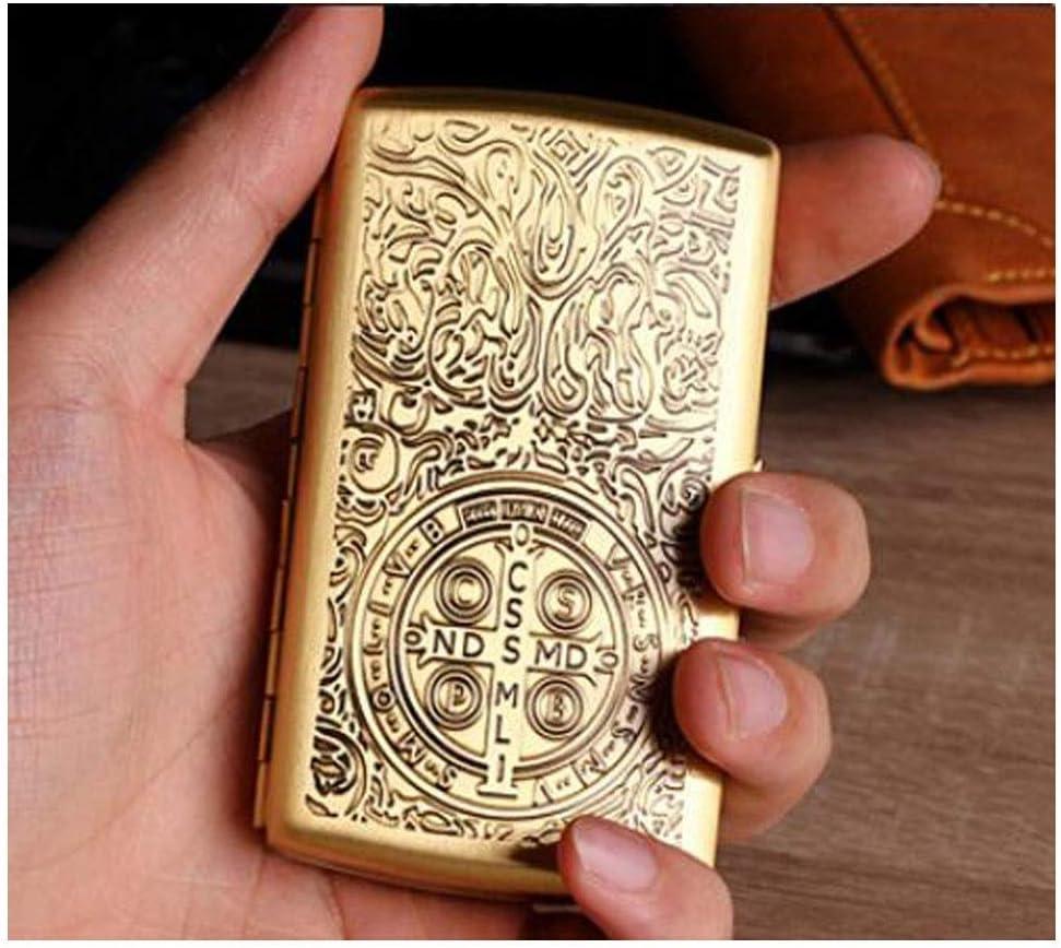 TANGIST Dustproof Cigarette case 12 Simple Portable Kansas City Mall Sticks Retr High material