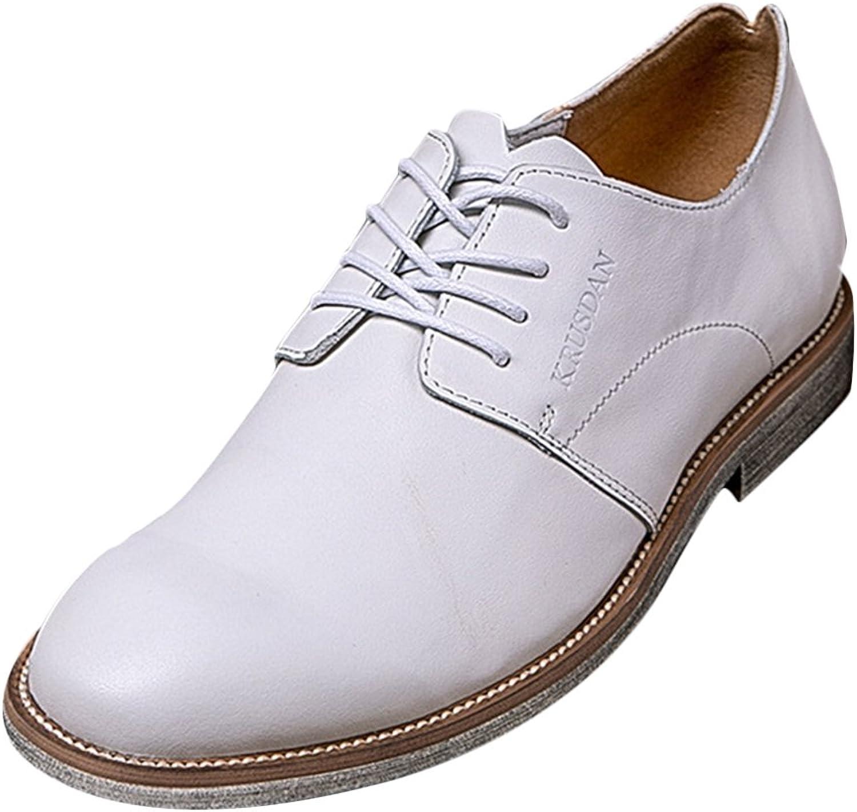 LIVEINU Män's Män's Män's läder vit Dress Casual Oxfords skor  online mode shopping