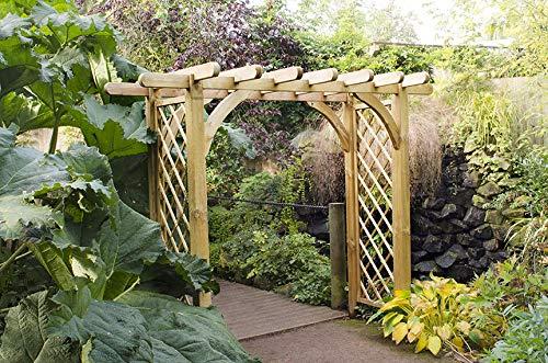 Leisure Traders Large Ultima Pergola Wooden Garden Trellis Arch