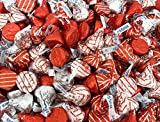 Valentine's Candy Mix - Hershey's KISSES HUGS Milk Chocolate, Kisses Milk Chocolate, Red Silver Foil, Bulk 2 Lbs