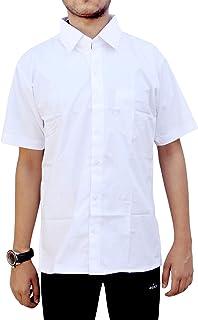 Henco Men/Women/Boy/Girl Formal White Half Sleeves Plain Shirt for Professionals, Doctors, Lawyers, Students, etc.