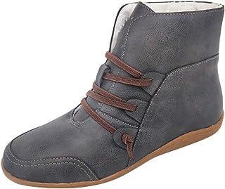 95sCloud Dameslaarzen, gevoerd met sneeuwlaarzen, comfortabele schoenen, blokhak, outdoor, sneakers, snoeren, lange schach...