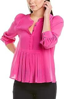 J.Crew Women's Silk Pleated Popover