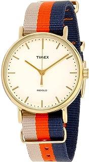 Timex Women Off White Dial Nylon Band Watch - TW2P91600