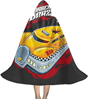 Korbens Crazy Taxi Fifth Element Unisex Kids Hooded Cloak Cape Halloween Christmas Party Decoration Role Cosplay Costumes Outwear Black