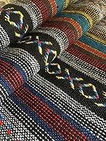 メキシカンドビー 民族調 生地 布 はぎれ 端切れ ネイティブ 柄 オルテガ 手芸材料 手芸用品 テーブルクロス ハンドメイド バッグ 小物 ポーチ 作り 作品 制作に (グレー系1m)