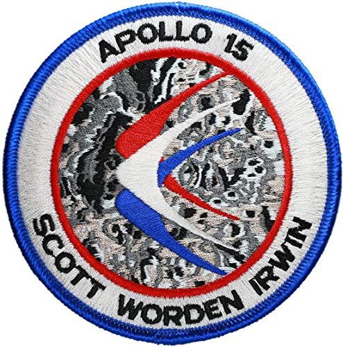 Klicnow Apollo 15Mission Parche (Patch Oficial) (10cm de diámetro) Aprox