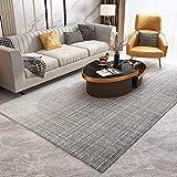 GBFR - Alfombra de piel de oveja (tamaño grande), diseño de gradiente gris, vintage, mostaza, mullida, dormitorio, estudio, exterior, comedor, baño, balcón
