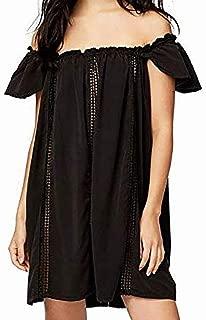 Womens Crochet A-Line Dress