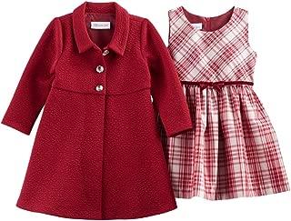 Bonnie Jean Baby Girl Plaid Dress & Jacket Set, Red