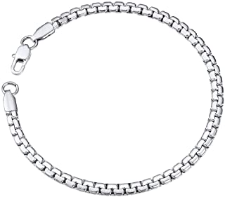 ChainsPro Chain Bracelet Link Mens Stainless Steel Jewelry 4mm 22CM Also for Women Box Hand Chain