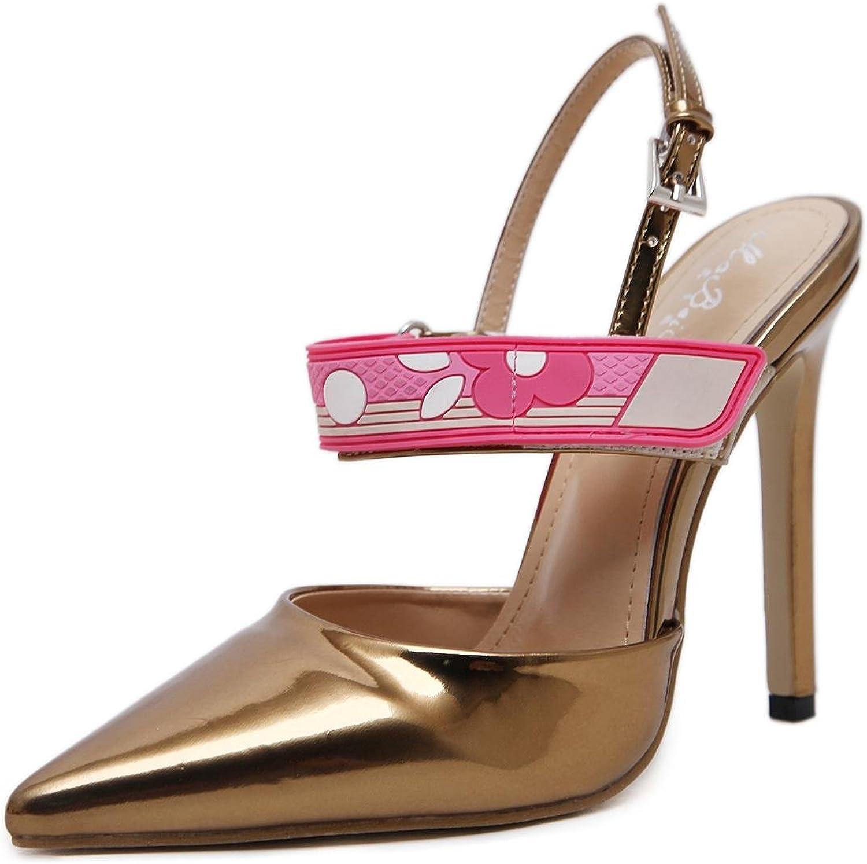 L@YC Damen High Heels Pumpe Tip flach flach Farbe Fight Gradient Farbe Schuhe weiblich  online