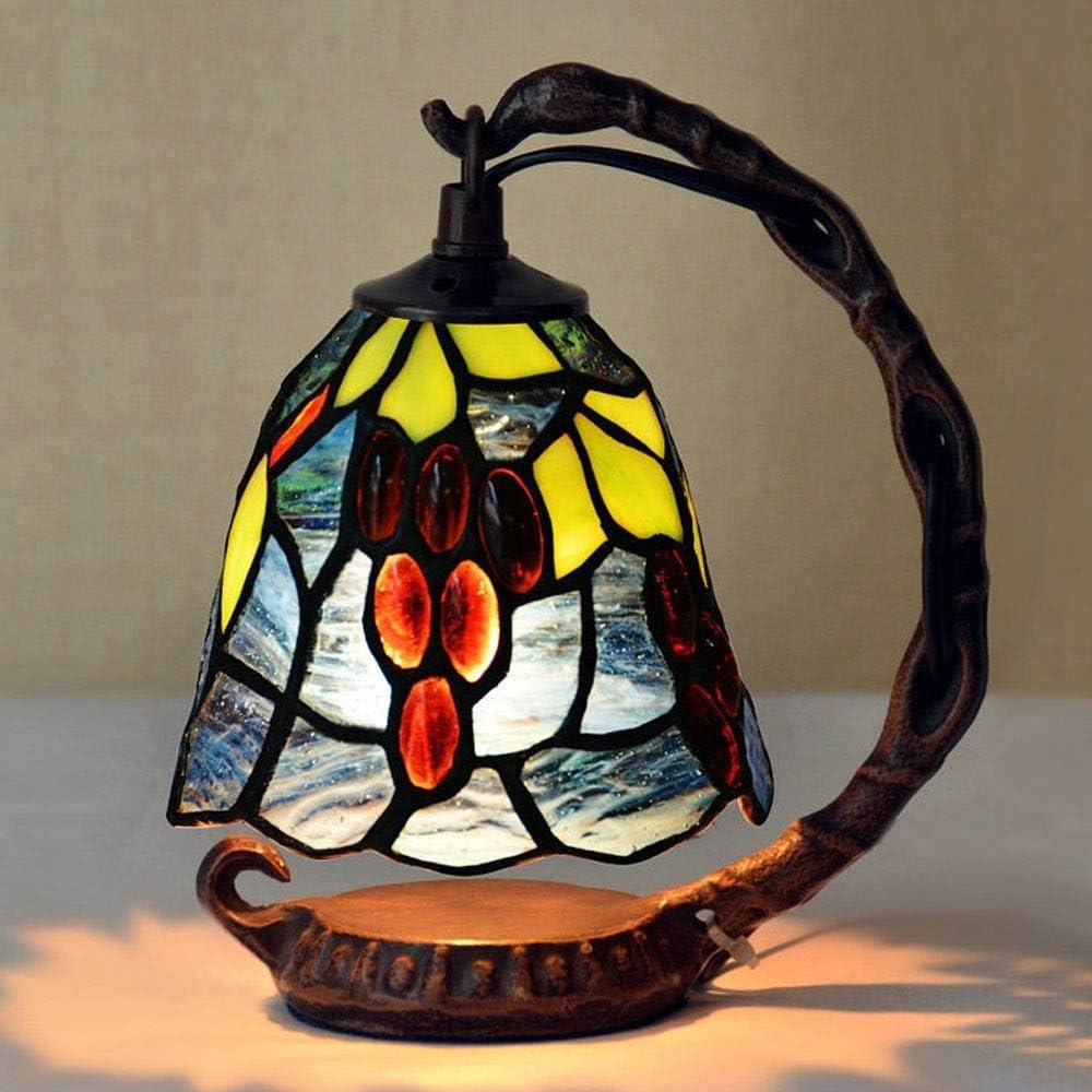 ZHCHL Desk Lamps Lamp Table Tiffany Resin Gem famous Glass Style N Long-awaited