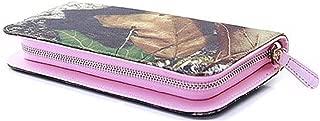 Mossy Oak Zipper Wristlet Camo Western Wallet (CAMO PINK STRAP)