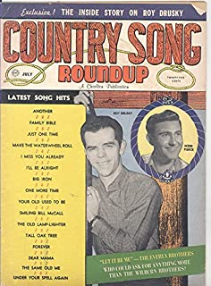 Country Song Roundup Magazine July 1960 Webb Pierce/Roy Drusky on Cover)